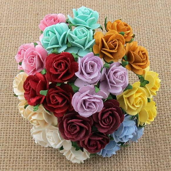 Mulberry Paper Open Roses