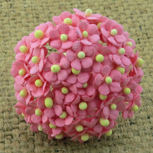 100 MINIATURE PINK SWEETHEART BLOSSOM FLOWERS